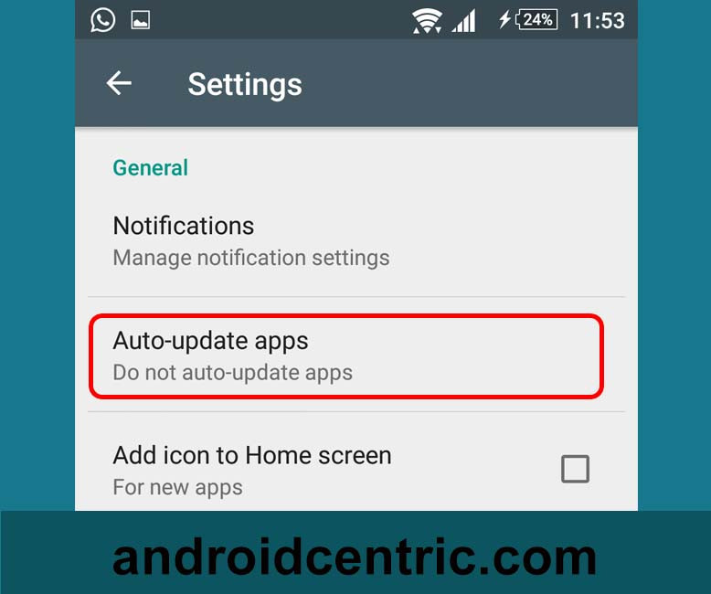 auto-update apps in google play store