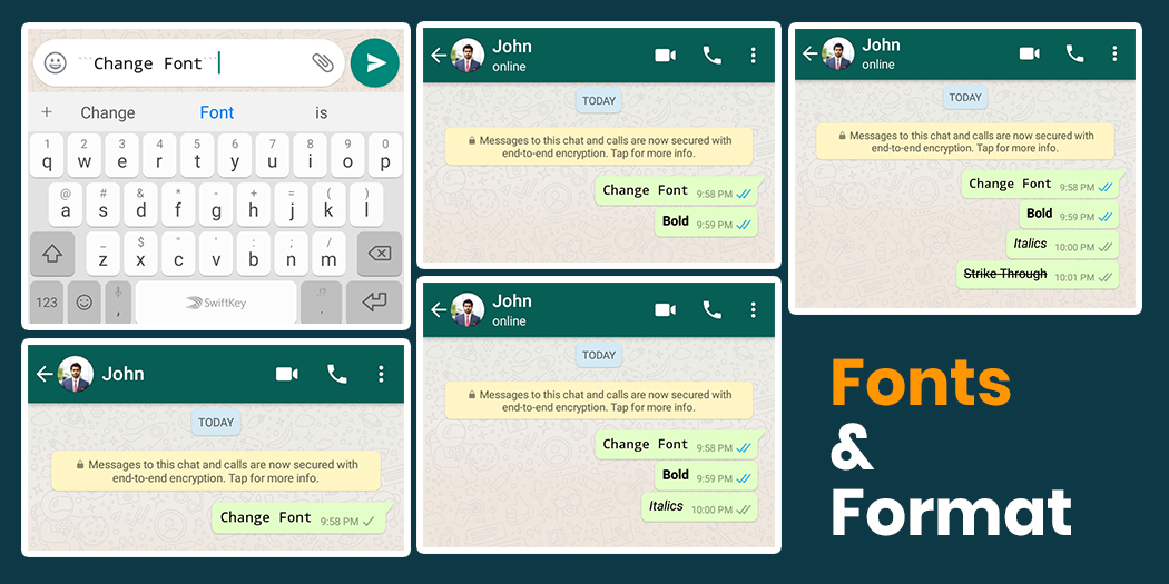 Change your Fonts on WhatsApp